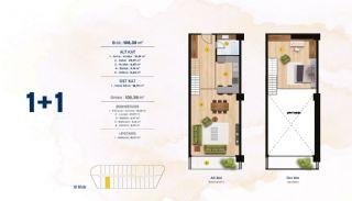 Квартиры с Видом на Море в Комплексе в Стамбуле, Бейликдюзю, Планировка -7