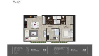 Meerblick-Wohnungen in einem Komplex mit Pools in Istanbul Türkei, Immobilienplaene-10