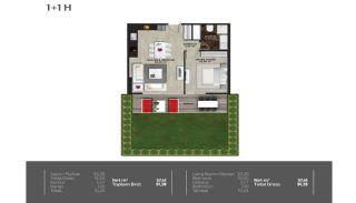 Meerblick-Wohnungen in einem Komplex mit Pools in Istanbul Türkei, Immobilienplaene-13
