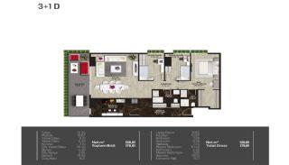 Meerblick-Wohnungen in einem Komplex mit Pools in Istanbul Türkei, Immobilienplaene-3