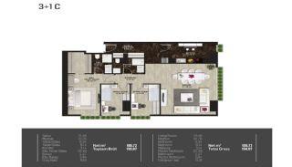 Meerblick-Wohnungen in einem Komplex mit Pools in Istanbul Türkei, Immobilienplaene-4