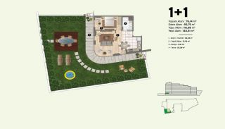 Недвижимость в Стамбуле, Пендик с Видами на Море и Острова, Планировка -1