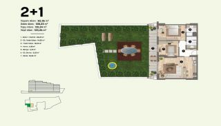 Недвижимость в Стамбуле, Пендик с Видами на Море и Острова, Планировка -2