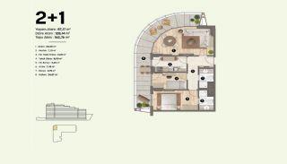 Недвижимость в Стамбуле, Пендик с Видами на Море и Острова, Планировка -3