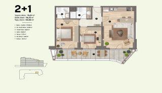 Недвижимость в Стамбуле, Пендик с Видами на Море и Острова, Планировка -5