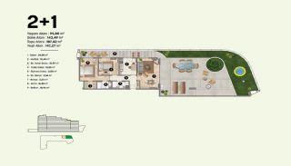 Недвижимость в Стамбуле, Пендик с Видами на Море и Острова, Планировка -7