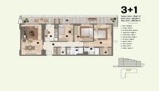Недвижимость в Стамбуле, Пендик с Видами на Море и Острова, Планировка -8