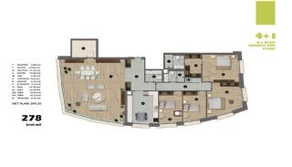 Modern Apartments in Istanbul Uskudar Close to the Subway, Property Plans-10