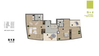 Modern Apartments in Istanbul Uskudar Close to the Subway, Property Plans-4