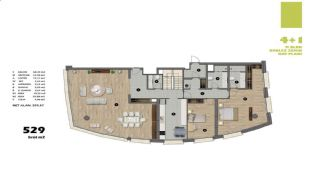 Modern Apartments in Istanbul Uskudar Close to the Subway, Property Plans-5