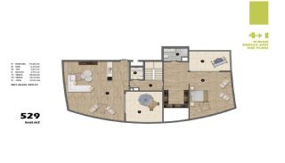 Modern Apartments in Istanbul Uskudar Close to the Subway, Property Plans-6
