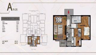 Väl belägen fastighet i ett komplex i Istanbul Pendik, Planritningar-1