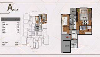 Väl belägen fastighet i ett komplex i Istanbul Pendik, Planritningar-3