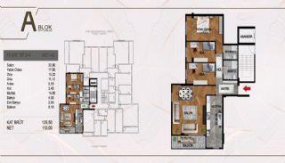 Väl belägen fastighet i ett komplex i Istanbul Pendik, Planritningar-4