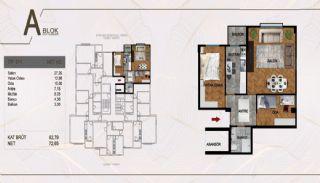 Väl belägen fastighet i ett komplex i Istanbul Pendik, Planritningar-5