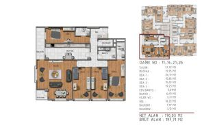 Island View Apartments in a Seaside Project in Istanbul, Property Plans-1
