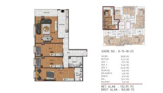 Island View Apartments in a Seaside Project in Istanbul, Property Plans-2