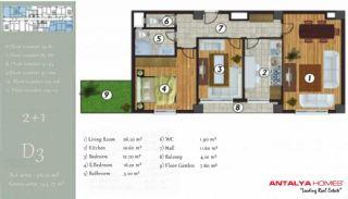 آپارتمان جذاب در یک موقعیت مرکزی, پلان ملک-4