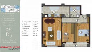 آپارتمان جذاب در یک موقعیت مرکزی, پلان ملک-6