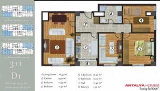 آپارتمان جذاب در یک موقعیت مرکزی, پلان ملک-7