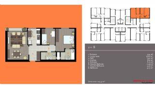 مدرن آپارتمان برای فروش, پلان ملک-3