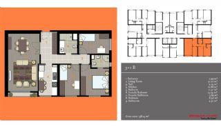 مدرن آپارتمان برای فروش, پلان ملک-5
