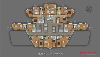 Элитный Проект с Торговым Центром, Планировка -8