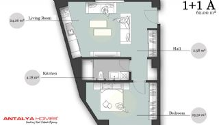 بوتیک آپارتمان در موقعیت مرکزی, پلان ملک-1