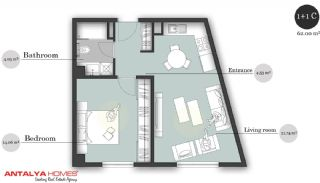 بوتیک آپارتمان در موقعیت مرکزی, پلان ملک-3