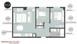 بوتیک آپارتمان در موقعیت مرکزی, پلان ملک-5