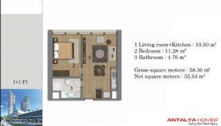 Lyxiga smart lägenheter med VIP service, Planritningar-1
