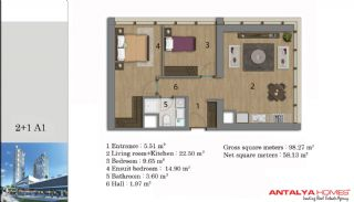 آپارتمان لوکس هوشمند با خدمات وی آی پی, پلان ملک-3