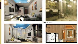 Luxuriose Wohnungen mit Hotel und Einkaufszentrum im gleichen Komplex, Immobilienplaene-1