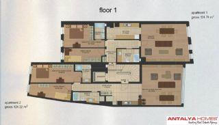 Апартаменты в Центре Района Эюп/Стамбул, Планировка -1