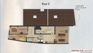 Апартаменты в Центре Района Эюп/Стамбул, Планировка -5