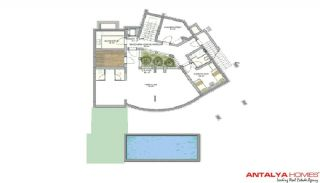 Meerovever Villas in Buyukcekmece, Istanbul, Vloer Plannen-9