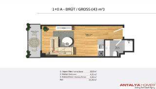 Апартаменты на Продажу в Элитном Комплексе, Планировка -1