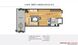 Апартаменты на Продажу в Элитном Комплексе, Планировка -2