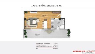 Апартаменты на Продажу в Элитном Комплексе, Планировка -3