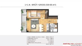 Апартаменты на Продажу в Элитном Комплексе, Планировка -4