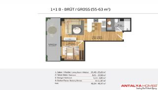 Апартаменты на Продажу в Элитном Комплексе, Планировка -5