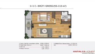 Апартаменты на Продажу в Элитном Комплексе, Планировка -6
