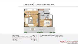 Апартаменты на Продажу в Элитном Комплексe, Планировка -7