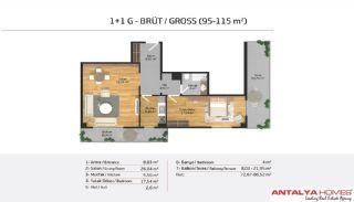Апартаменты на Продажу в Элитном Комплексе, Планировка -10