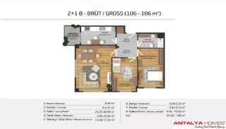 Апартаменты на Продажу в Элитном Комплексe, Планировка -12