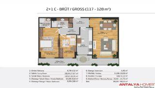 Апартаменты на Продажу в Элитном Комплексе, Планировка -13