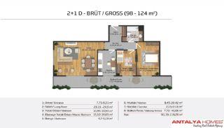 Апартаменты на Продажу в Элитном Комплексe, Планировка -14