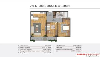 Апартаменты на Продажу в Элитном Комплексе, Планировка -17