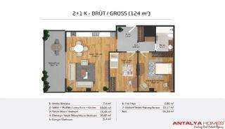 Апартаменты на Продажу в Элитном Комплексе, Планировка -19
