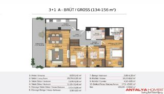 Апартаменты на Продажу в Элитном Комплексe, Планировка -21